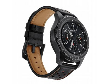 Tech-Protect LEATHER SAMSUNG GEAR S3 czarny