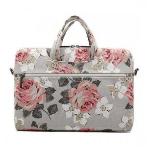 Canvaslife BRIEFCASE MACBOOK PRO 15 biało różowy