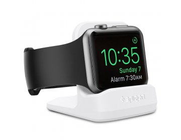 Spigen S350 NIGHT STAND APPLE WATCH 1/2/3/4/5 biały