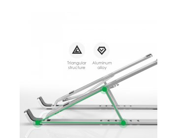 Tech-Protect ALUSTAND UNIVERSAL LAPTOP STAND srebrny