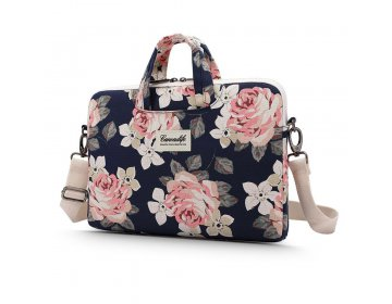 Canvaslife BRIEFCASE LAPTOP 13-14 NAVY ROSE