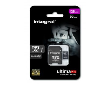 Integral karta pamięci microSDXC Ultima PRO 128GB | class 10 | UHS-I | 90 MB/s + adapter