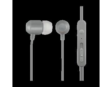Acme EUROPE Słuchawki przewodowe douszne z mikrofonem HE21G szare