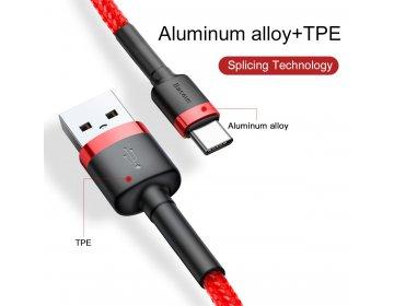 Baseus kabel Cafule typ-C | 0,5 m czerwony 3A