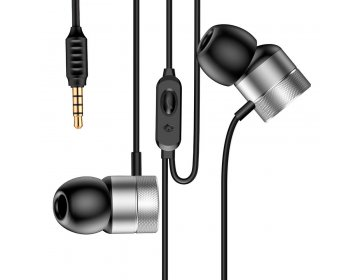 Baseus słuchawki przewodowe Encok H04 srebrne