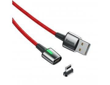 Baseus kabel Zinc Magnetic 8pin | 2 m czerwony 1,5A