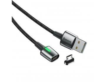 Baseus kabel Zinc Magnetic micro | 1 m czarny 2,4A