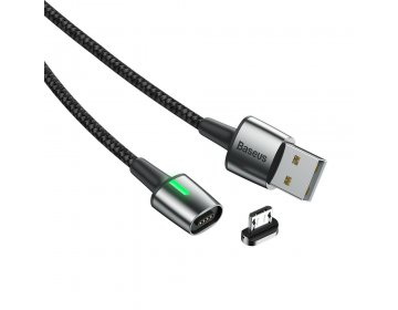 Baseus kabel Zinc Magnetic micro | 2 m czarny 1,5A