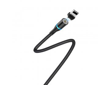 Borofone Kabel BU16 Skill 8-pin czarny magnetyczny 2,4A 1,2m
