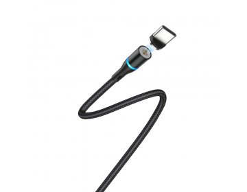 Borofone Kabel BU16 Skill typ-C czarny magnetyczny 2,4A 1,2m