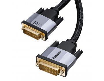 Baseus kabel Enjoyment DVI do DVI dwukierunkowy ciemno-szary 1m