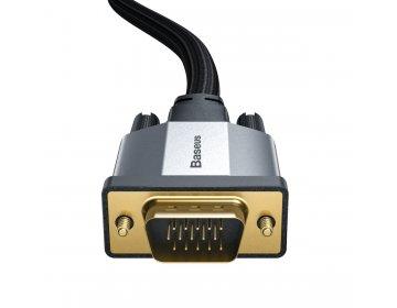 Baseus kabel Enjoyment VGA do VGA dwukierunkowy ciemno-szary 3m