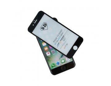 Szkło hartowane 5D do iPhone 7/iPhone 8 czarna ramka