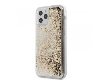 Etui GUESS Hard case Glitter Charms do Apple iPhone 12 mini złoty