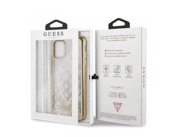 Etui GUESS Liquid Glitter Peony do Apple iPhone 11 PRO złoty