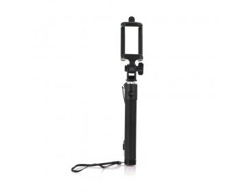 Zestaw/uchwyt do selfie z pilotem w rączce czarny przewód 3,5mm Jack