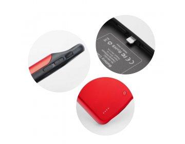 Bateria zewnętrzna POWER BANK 3000 mAh z pokrowcem do iPhone X/Xs czerwony