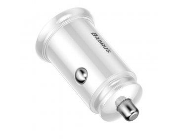 Baseus inteligentna ładowarka samochodowa Circular PPS z portami USB Quick Charge 4.0 QC 4.0 i USB-C PD 3.0 SCP biały CCALL-YS02/BS-S15C