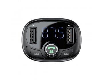 Baseus Transmiter FM bluetooth z ładowarką samochodową MP3 TF microSD 2xUSB 3,4A CCALL-TM01/S05