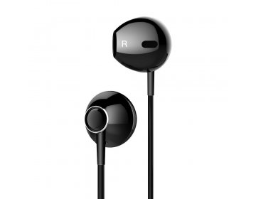 Baseus zestaw słuchawkowy/słuchawki Encok Wire H06 czarny NGH06-01