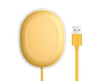Baseus ładowarka bezprzewodowa/indukcyjna Jelly Qi 15 W żółty WXGD-0Y