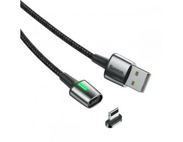 Baseus kabel USB magnetyczny ZINC do iPhone Lightning 8-pin 2,4A 1 metr czarny CALXC-A01