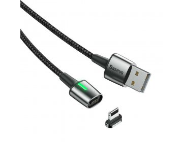 Baseus kabel USB magnetyczny ZINC do iPhone Lightning 8-pin 1,5A 2 metry czarny CALXC-B01