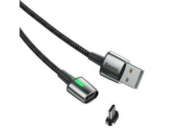 Baseus kabel USB magnetyczny ZINC Typ C 2A 2 metry czarny CATXC-B01