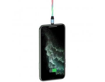 Hoco kabel USB magnetyczny Ingenious do iPhone Lightning 8-pin 2A U90 niebieski