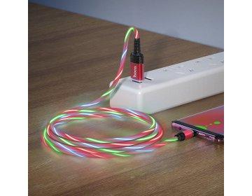 Hoco kabel USB magnetyczny Ingenious micro 2A U90 czerwony