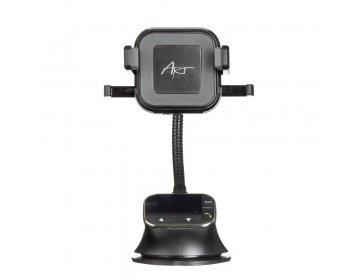 Uchwyt samochodowy uniwersalny 4w1 zest. głośnomówiący, ładowarka indukcyjna/bezprzewodowa 10W, transmiter FM MP3TR FM-09