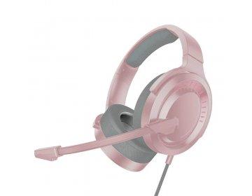 Baseus zestaw słuchawkowy/słuchawki stereo GAMING GAMO Immersive Virtual 3D różowy NGD05-04