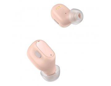 Baseus zestaw słuchawkowy/słuchawki bluetooth TWS Encok WM01 różowy NGWM01P-04