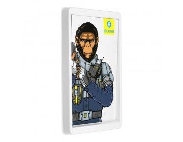 5D Mr. Monkey Armor Camera Glass do iPhone 11/12/12 mini srebrny