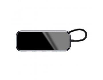 Baseus HUB adapter przejściówka Typ C na 2x USB3.0/TF/SD/Typ C Power Delivery szary CAHUB-K0G