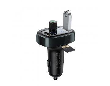 Baseus Transmiter FM bluetooth MP3 z ładowarką samochodową 2xUSB 3,4A + TF microSD tarnish CCALL-TM0A