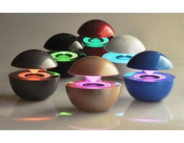 Głośnik multimedialny bluetooth LED BALL złoty