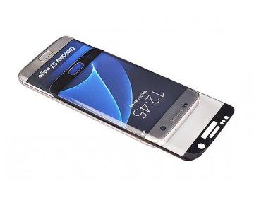 Hartowane szkło 3D SAMSUNG G965 SAMSUNG S9 Plus CZARNY, ZAGIĘTE mały rozmiar futerałów