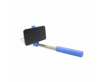 Remax Uchwyt selfie mini XT-P02 przewodowy lightning niebieski