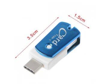 Czytnik kart micro SD > CR09 USB Typ C niebieski