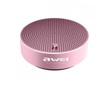 Awei Głośnik Bezprzewodowy bluetooth > Y800 mini metalowy Jasnoróżowy
