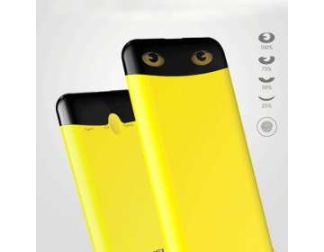 Awei power bank > P68K 1xUSB+USB Typ C szybkie ładowanie 10000mAh żółty